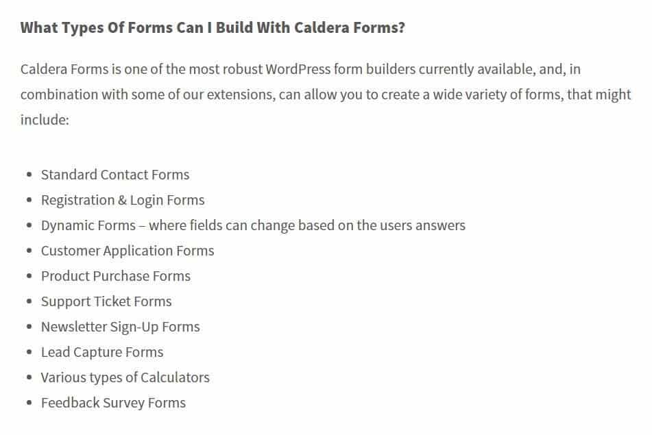 Caldera-types