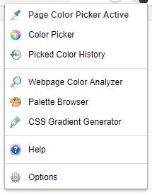 Colorzilla-menu