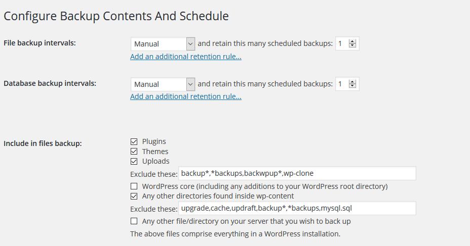 Configure-backup-manual