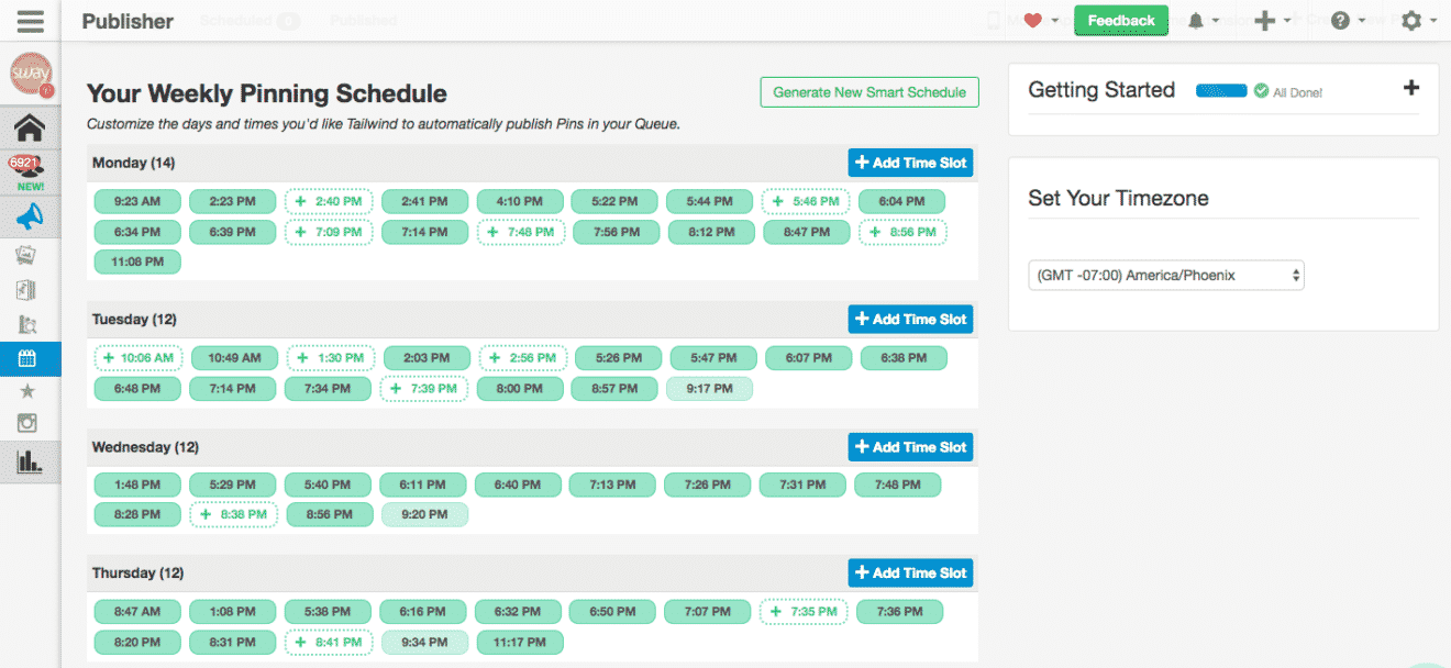 Tailwind-schedule
