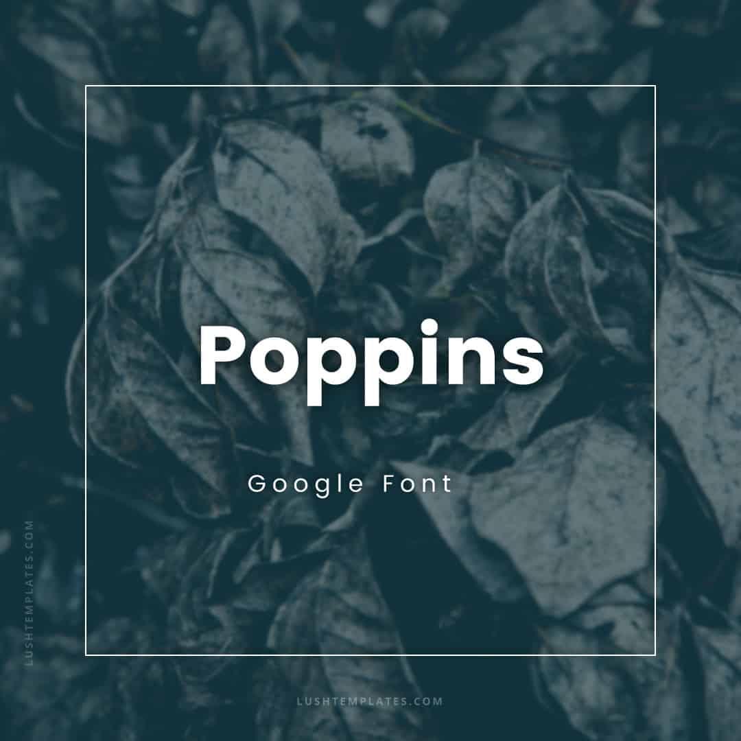 Font Pair CINZEL & POPPINS